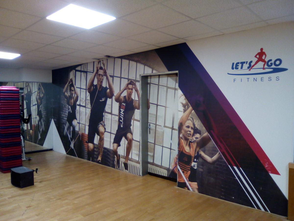 adhesif mur salle de sport